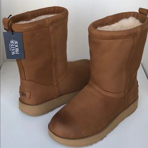 ❤️New Ugg Classic Chestnut Leather Waterproof 6.5